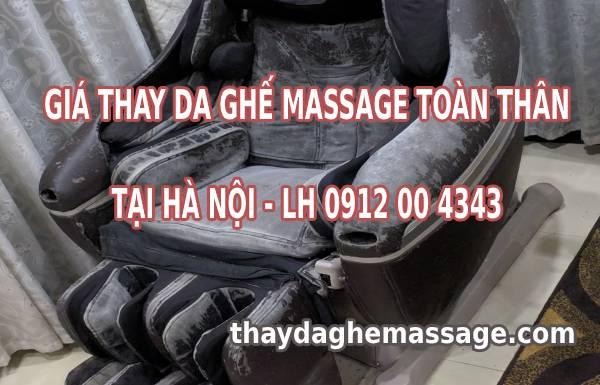 Giá thay da ghế massage tại nhà Hà Nội